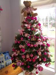 green tree with pink ornaments home design and decorating