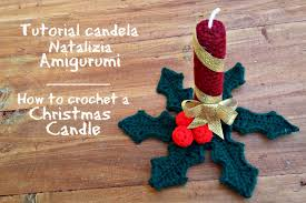 Amigurumi Christmas Ornaments - tutorial candela natalizia amigurumi how to crochet a christmas