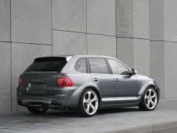 2006 Porsche Cayenne - 2006 techart magnum based on porsche cayenne grey rear angle