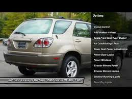 lexus suv 2002 for sale 2002 lexus rx 300 for sale in durham nc