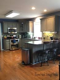 Graphite Kitchen Cabinets Painting Thermofoil Kitchen Cabinets The Big Reveal Farm