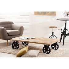 Table De Salon Industrielle by Table Basse Industrielle Double Plateau Meubles Macabane