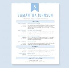 Resume Samples With References by Light Blue Resume Template Package Resume Templates Creative