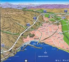 Granada Spain Map by Almeria Panoramic Map Almeria Spain U2022 Mappery
