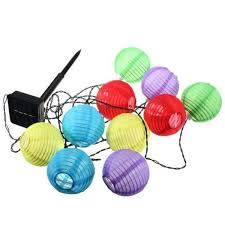 small solar lights outdoor colorful small lantern 10 led string lights party decoration