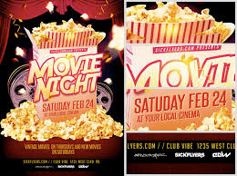 movie night flyer template new 2017 resume format and cv samples