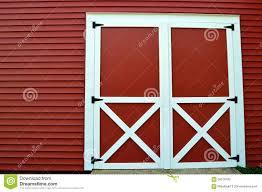 red barn doors stock photo image 58576420