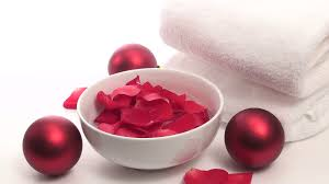 spa christmas theme red and white v2 hd stock video footage
