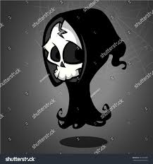 cute halloween background vectors vector illustration cartoon death halloween monster stock vector