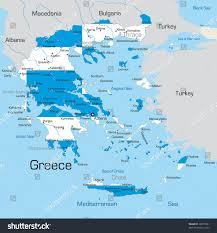 Kos Greece Map by Abstract Vector Color Map Greece Country Stock Vector 18277201