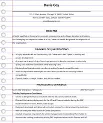 Sap End User Resume Sample by 4 Sap Trainer Resume Templates U0026 Examples