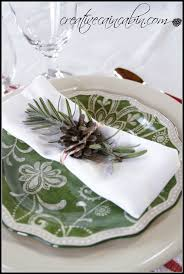 christmas place setting ideas wih everyday dishes creative cain