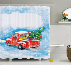 Winter Scene Shower Curtain by Winter Bathroom Decor Yellow Wall Paint Photos With Frame Fishing