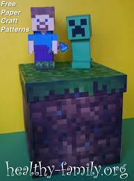 minecraft paper crafts get free herobrine steve enderman u0026 creeper