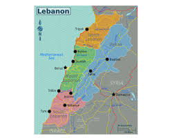 Mediterranean Sea World Map by Maps Of Lebanon Detailed Map Of Lebanon In English Tourist Map