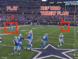 how cowboys lions penalty got overruled an explanation business