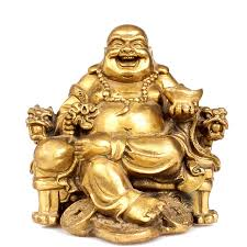 feng shui home decoration brass copper maitreya laughing