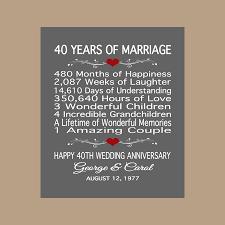 40th anniversary gift ideas stunning 40 year wedding anniversary gift ideas pictures styles