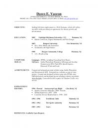 Career Objective Resume Example by Cover Letter Sample Career Objectives For Resumes Sample Career