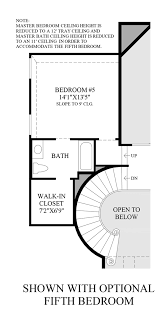 Bedroom Floor Plan Northgrove At Spring Creek Executive Collection The San