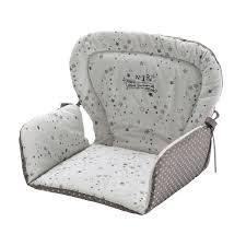coussin chaise haute bebe coussin de chaise haute pour bébé en coton blanche grise 25 x 30 cm