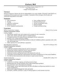 Sample Construction Resume Sample Highway Construction Resume Project Construction Project