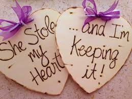 wedding photo props wedding photo props engagement photo props set of 2 wood hearts