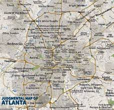 san francisco judgmental map judgmental map of atlanta things that make me