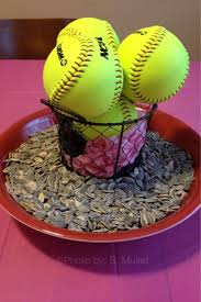 Ideas For Centerpieces For Birthday Party by Top 25 Best Softball Party Decorations Ideas On Pinterest