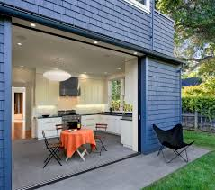 indoor outdoor space sliding glass door coverings in kitchen contemporary with indoor