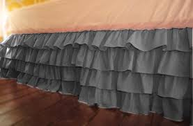 twin bed skirt etsy grey dust ruffle il full msexta