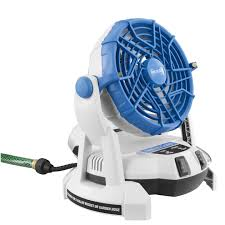 ryobi fan and battery 18v bucket top misting fan products arctic cove