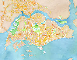 Stamen Maps Stamen Design U0027s Watercolor Singapore 20x200