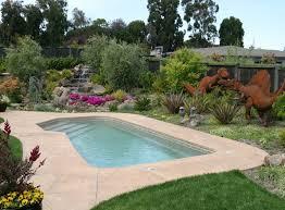 Pool Backyard Design Ideas Triyae Com U003d Backyard Landscaping Ideas Around Pool Various