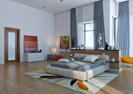 Colorful Bedrooms Bedroom Modern Colorful Bedroom Brown Laminated Flooring White