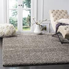 Grey Living Room Rug Amazon Com Safavieh California Shag Collection Sg151 7575 Silver