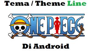 theme line blue kumpulan tema theme line anime one piece di android artikel