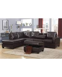 Reversible Sectional Sofas Cyber Monday Sale Maria Dark Faux Leather 3 Piece Reversible