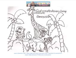 god created the earth coloring pages for made animals page eson me