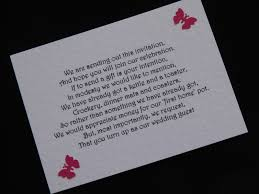 Wedding Gift Money Poem Wedding Invite Money Poem Gallery Wedding And Party Invitation