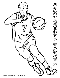 basketball player printable coloring pages coloring page