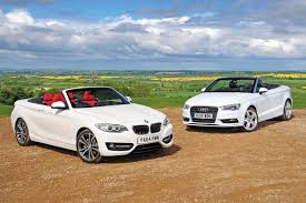 audi convertible 2016 bmw 2 series convertible vs audi a3 cabriolet auto express