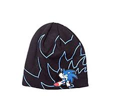 amazon sega beanie hat cap sonic hedgehog official black