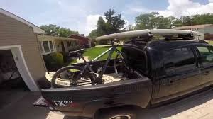 Roof Rack For Tacoma Double Cab by Toyota Tacoma Pickup With Sup Kayak Mountain Bike Tour Outdoor
