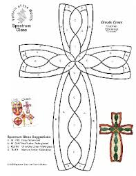 free stained glass pattern 2303 ornate cross stained glass