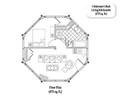 1 floor house plans one bedroom guest house plans homes floor plans