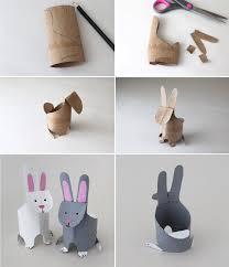 pinterest bricolage enfant fabrication lapin en carton activtés avec les enfants