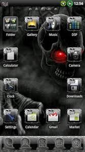 skull apk horror skull go launcher theme apk for blackberry