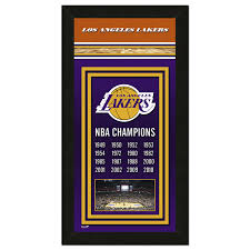 los angeles lakers championship banner la times store