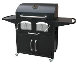 Backyard Classic Professional Charcoal Grill by Landmann Smoky Mountain Bravo Premium Charcoal Grill With Offset